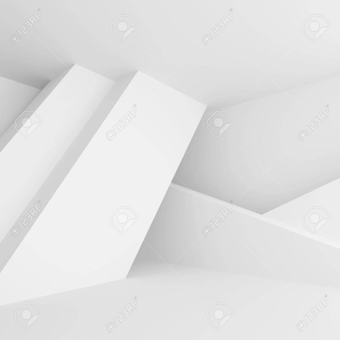 Abstrait Arriere Plan Blanc Minimal Interior Design 3d Illustration De La Construction Du Batiment Moderne Banque D Images Et Photos Libres De Droits Image 69065124