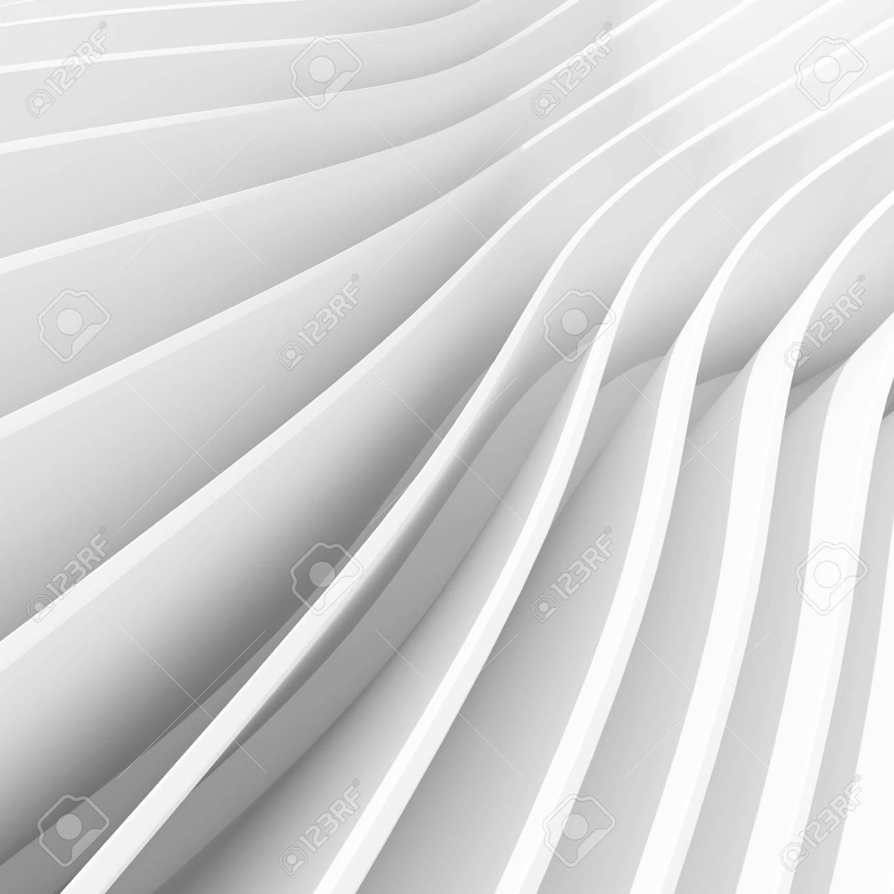 Abstrakt Architektur Hintergrund Weiss Welle Tapete 3d Rendering