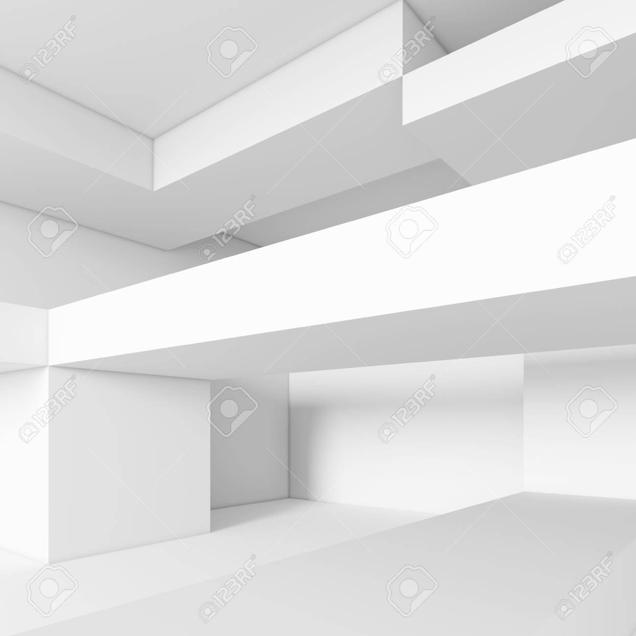 Abstrait Arriere Plan Blanc Minimal Interior Design 3d Illustration De La Construction Du Batiment Moderne Banque D Images Et Photos Libres De Droits Image 70861582