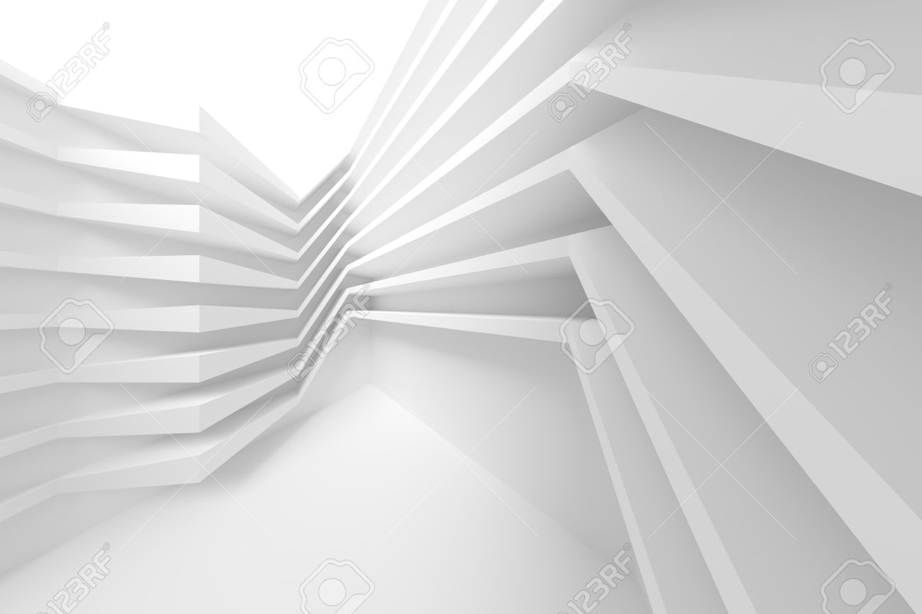 3d illustration of white modern architecture background abstract rh 123rf com