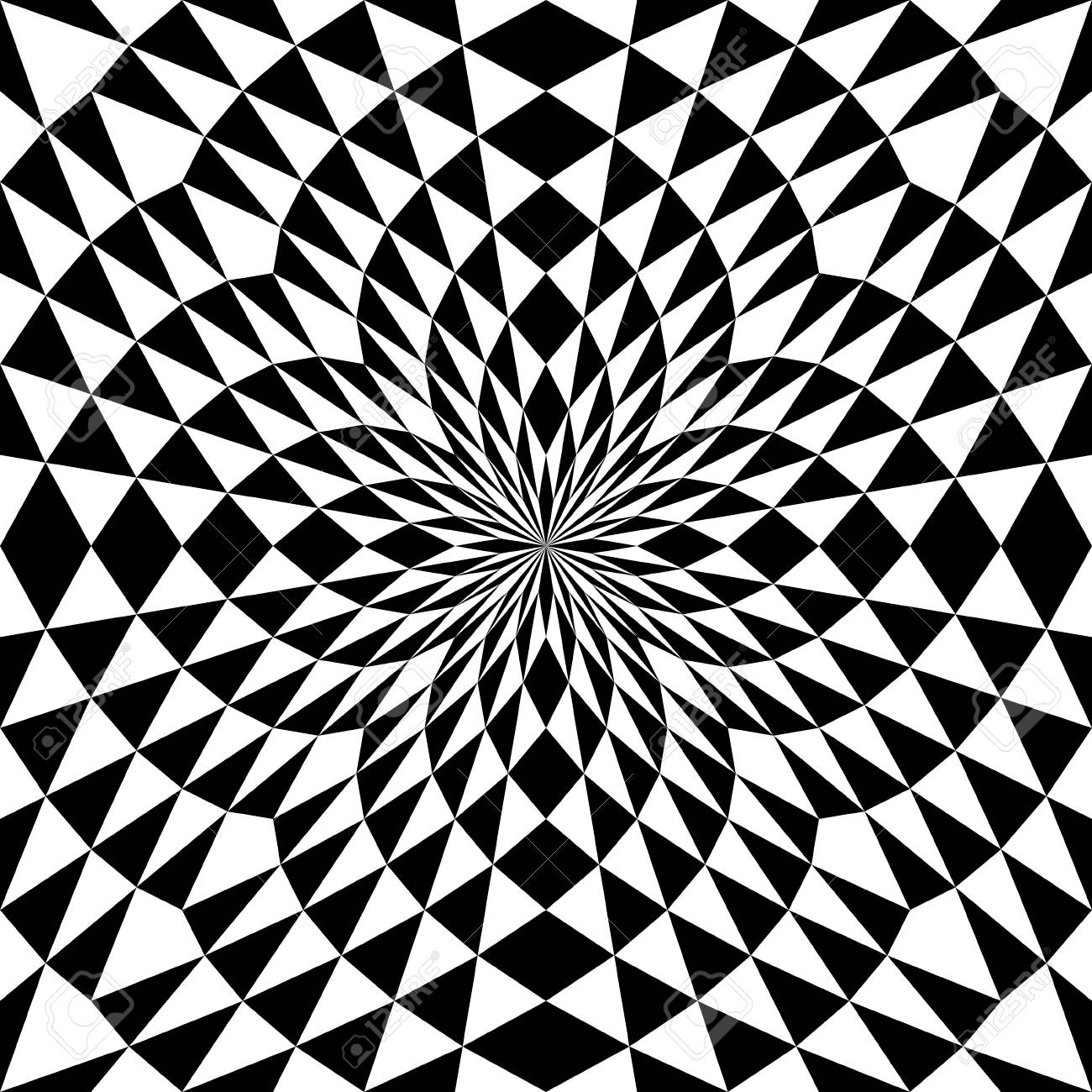 Seamless Square Pattern Optical Illusion Wallpaper Abstract
