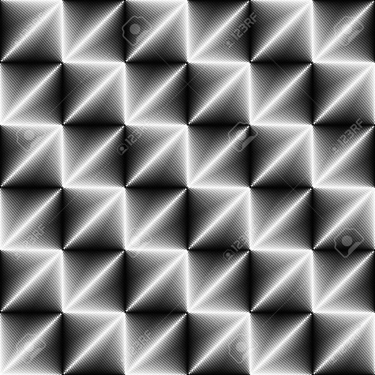 Pattern Di Cristallo Senza Soluzione Di Continuità Vector Sfondo Sfumato Bianco E Nero Sfondo Di Illusione Ottica