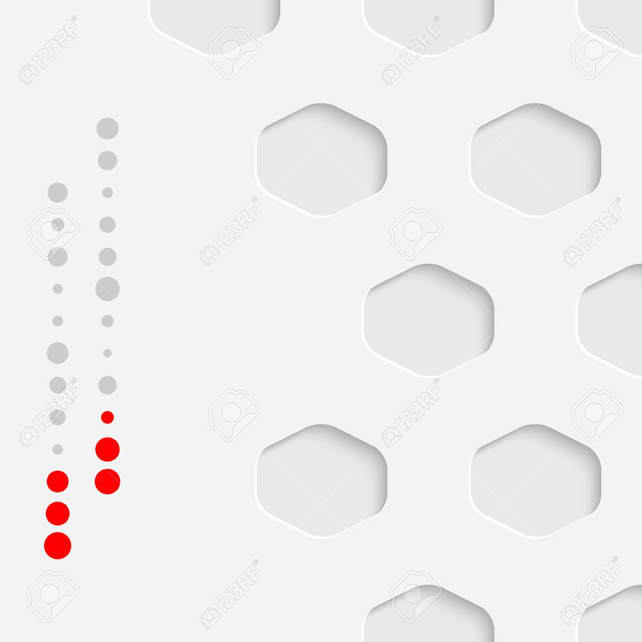 Minimalistic Business Card Background Vector Hexagon Wallpaper With Copyspace White Creative Graphic Design Stock