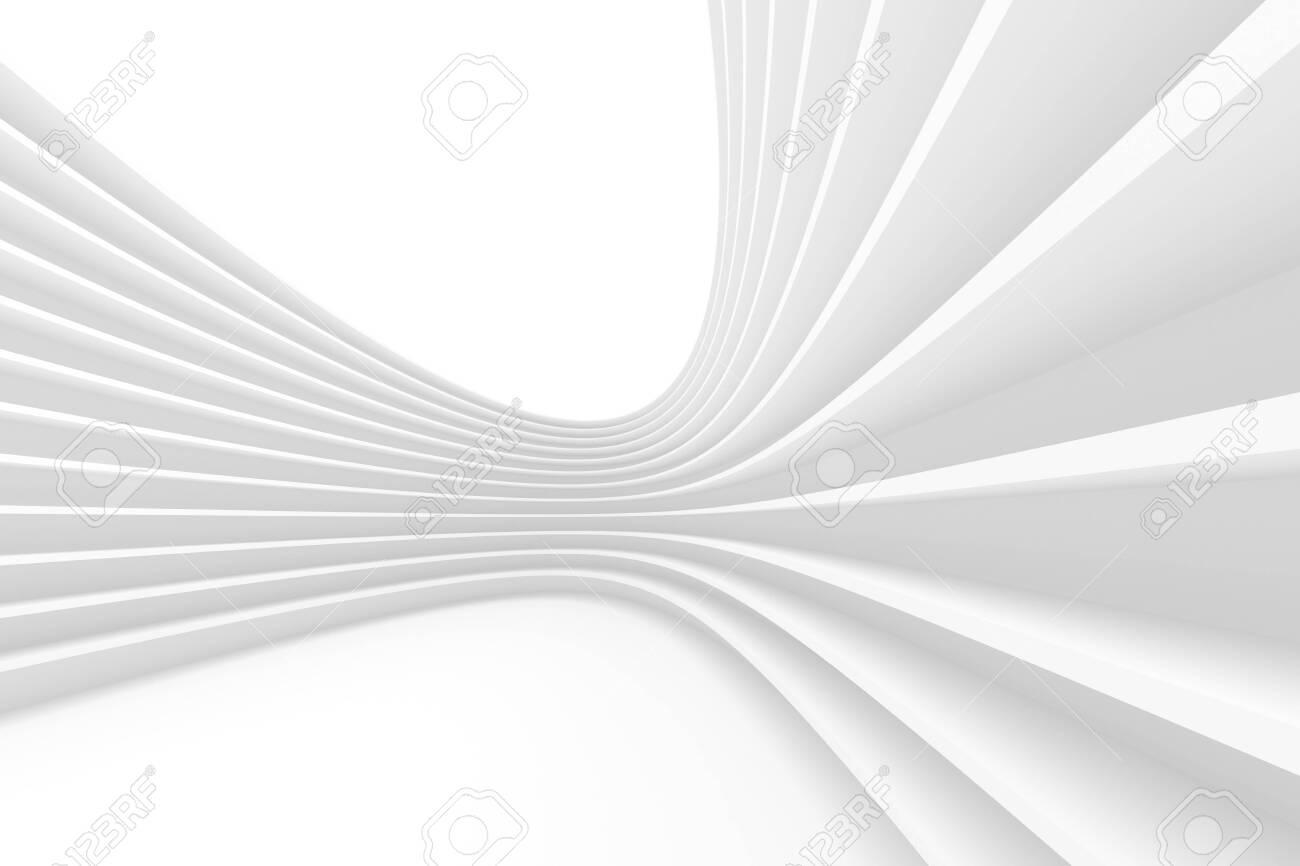 3d Rendering of White Circular Building. - 129640335