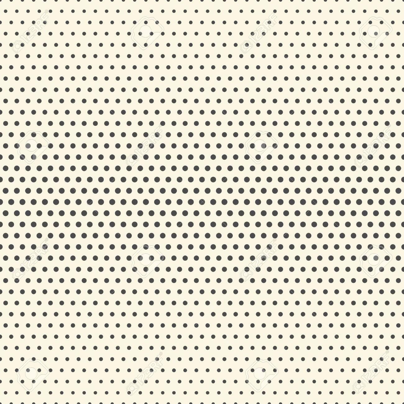 Seamless Halftone Pattern. Minimal Elegant Wallpaper. Vector Monochrome Texture - 141860405