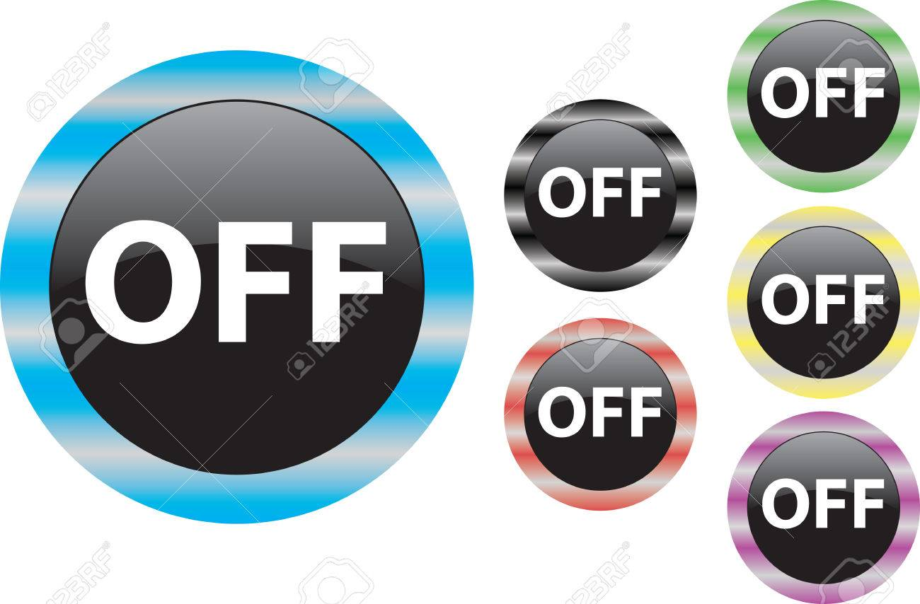 Vector Off Button Start Begin Turn On Symbol Royalty Free Cliparts