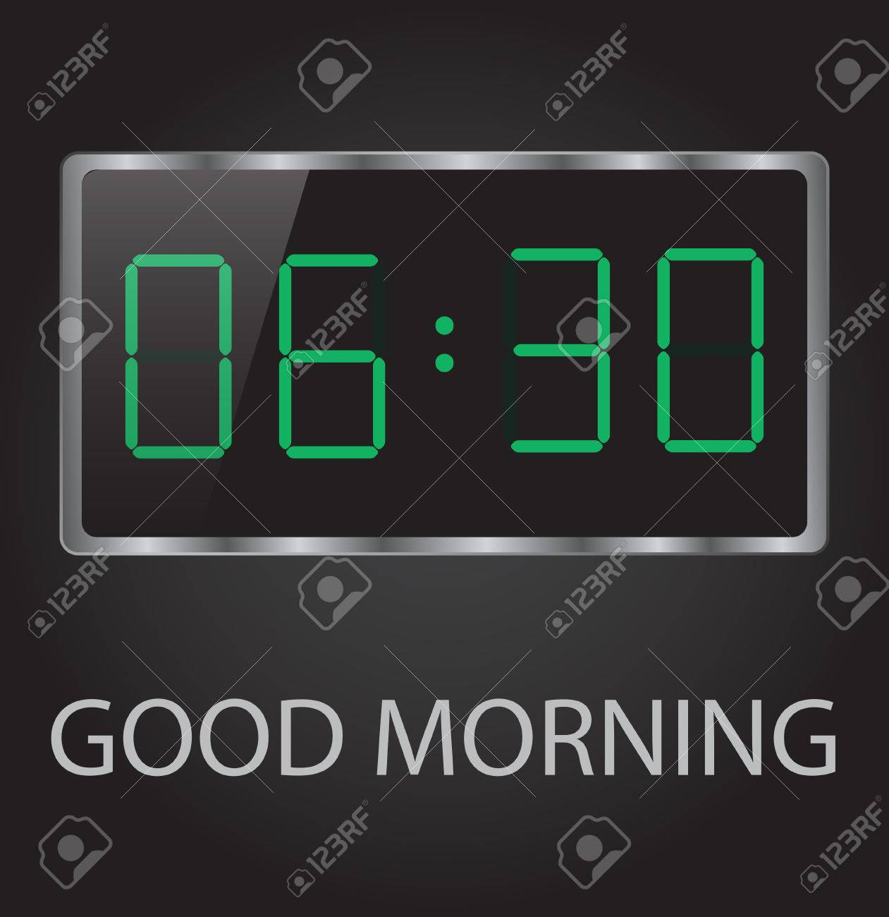 good morning time 6-30 early wake up clock Stock Vector - 26566961