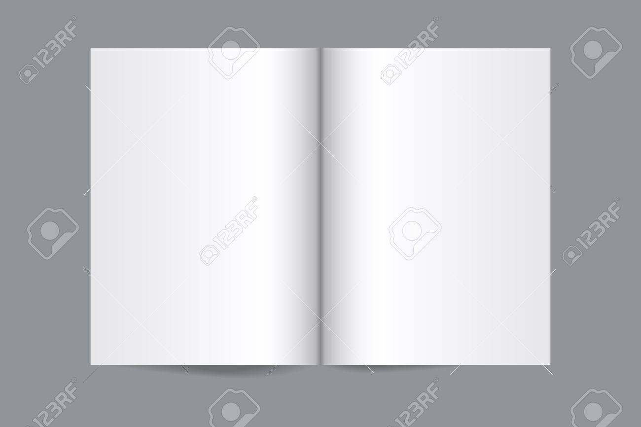 Vector blank magazine spread on gray background Stock Vector - 26566975