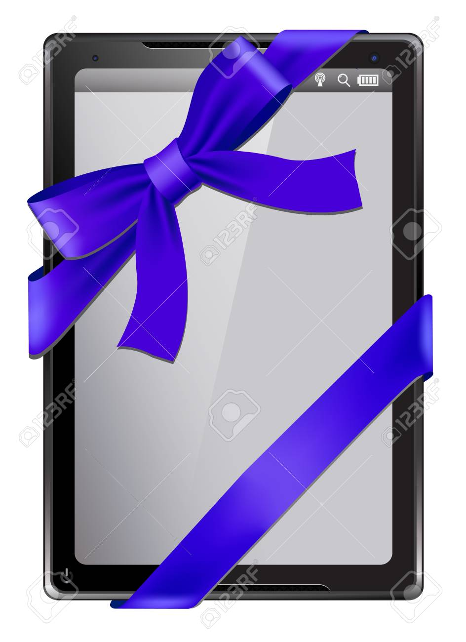 Digital tablet as a gift Stock Vector - 16015614