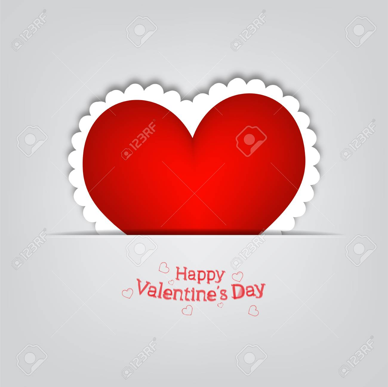 Gift card  Valentine s Day Stock Vector - 16810561