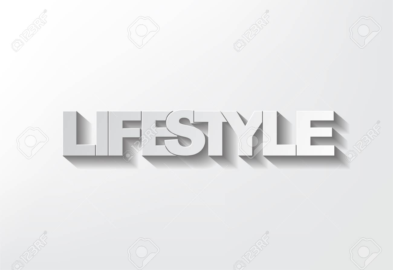 Lifestyle symbol on a grey background and shadow Stock Vector - 17513491