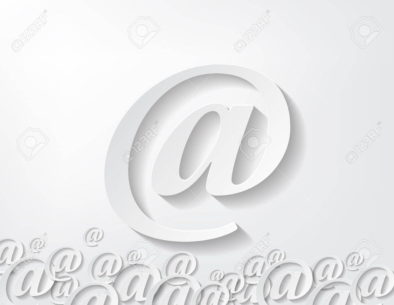 image of paper arroba isolated in white background Stock Vector - 17513547