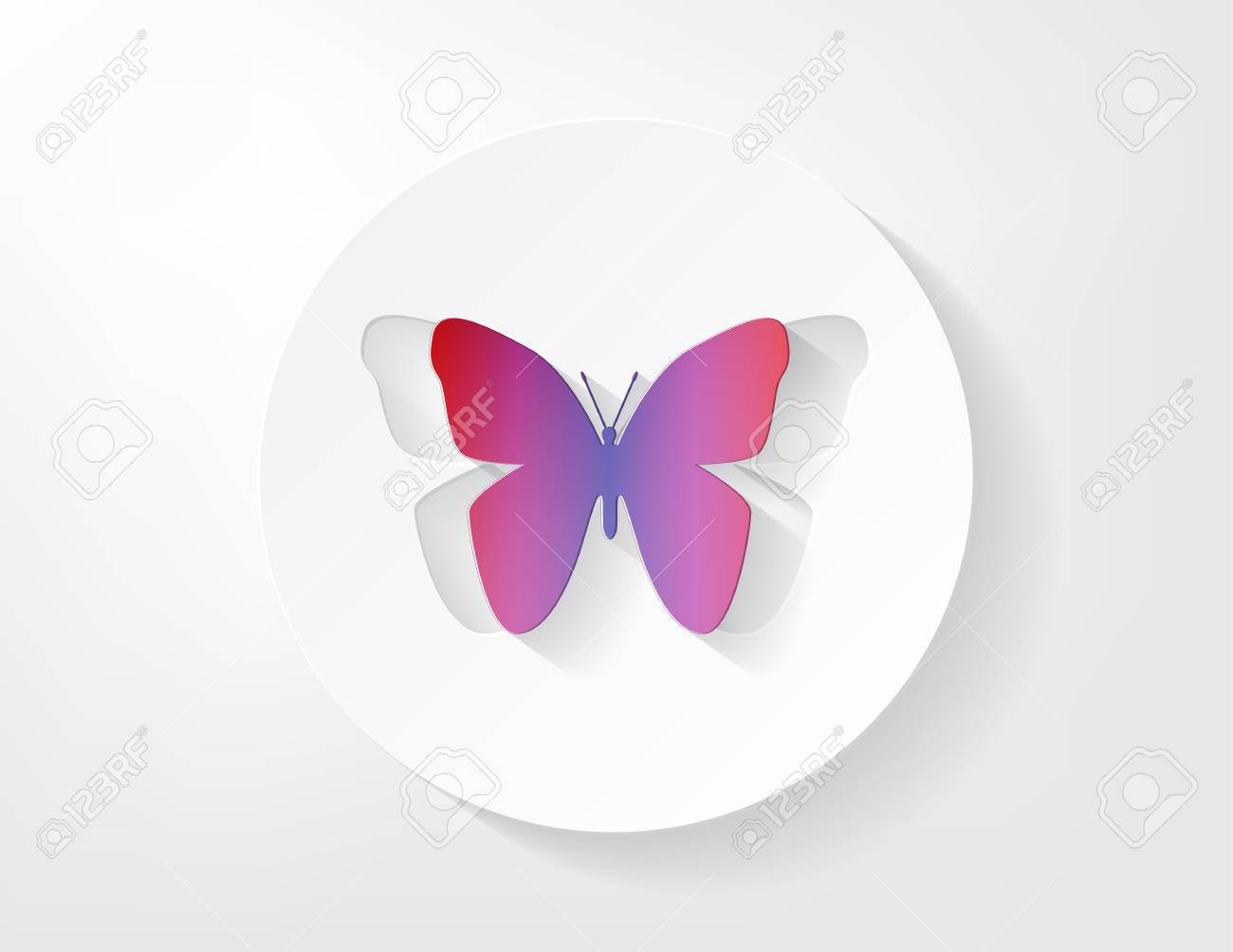 Nice colored buterfly shaped from paper with a nice shadow Stock Vector - 17624290