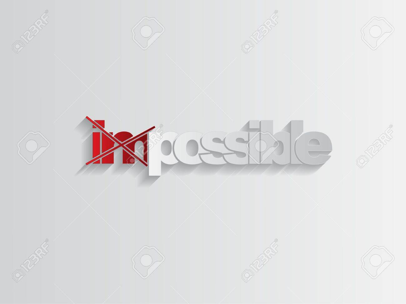 Word impossible transformed into possible, motivation concept Stock Vector - 17853394