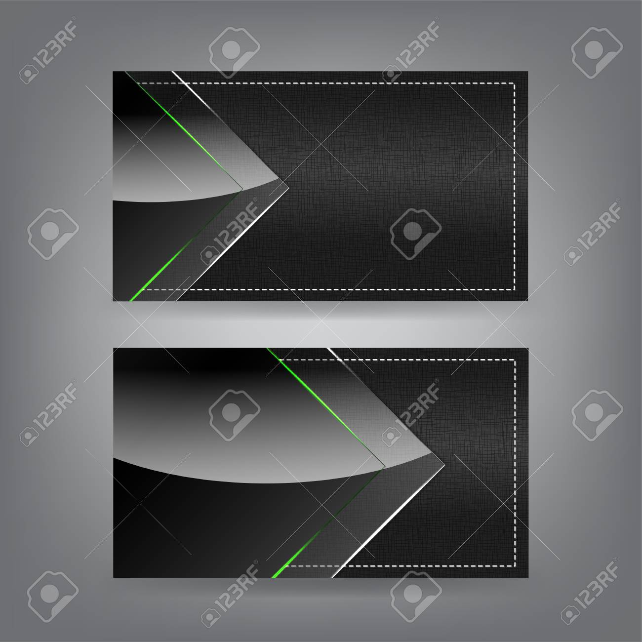 Textile and neon glass theme business card template (Part 4) Stock Vector - 18421086