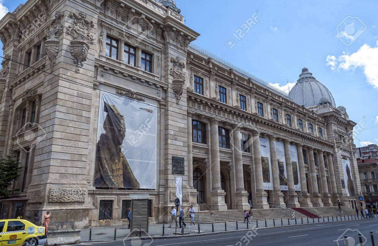 Bucharest Romania May 31 Facade Of The National Museum Of Stock Photo Picture And Royalty Free Image Image 20062430