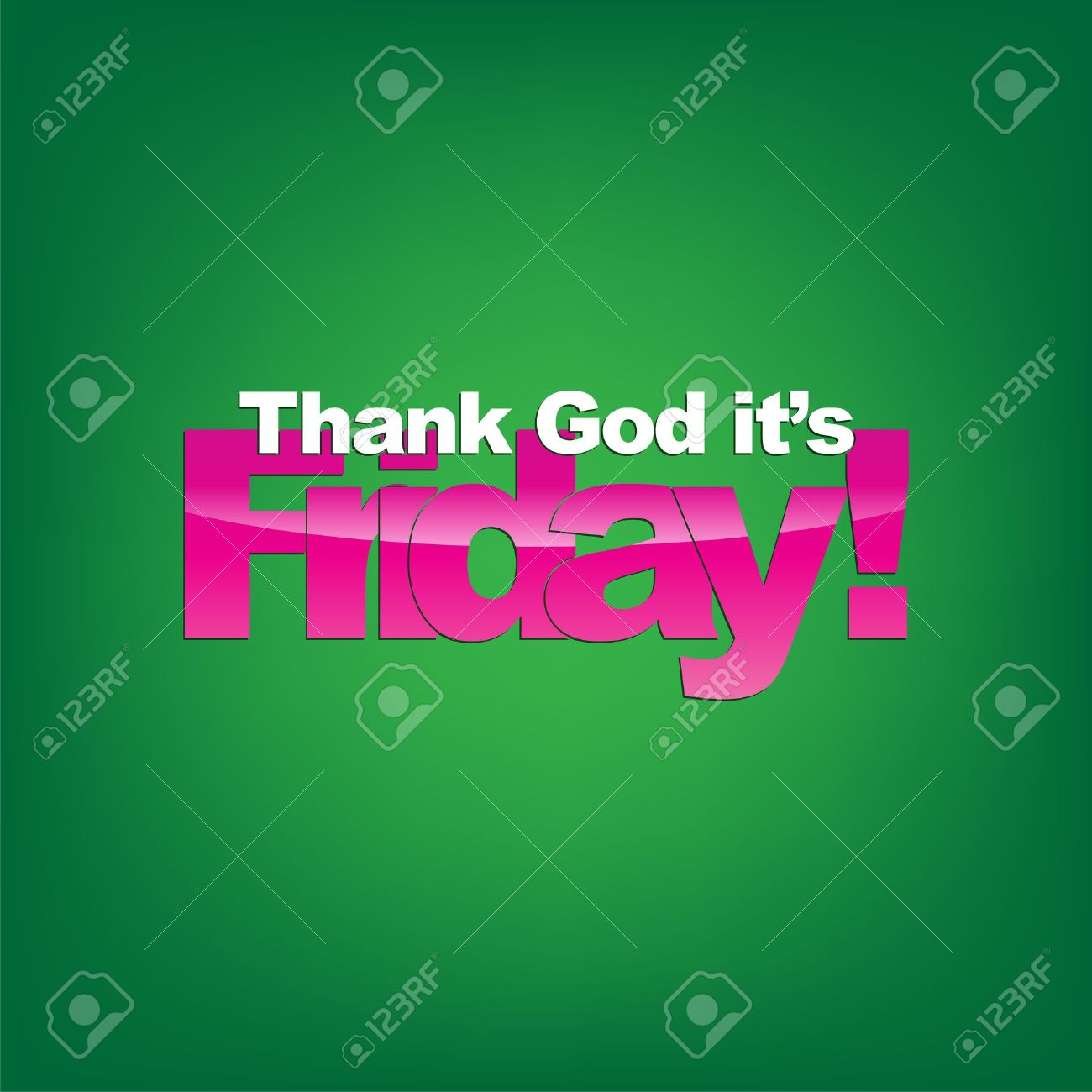 Thank God it's Friday! Typography background! Stock Vector - 22150694