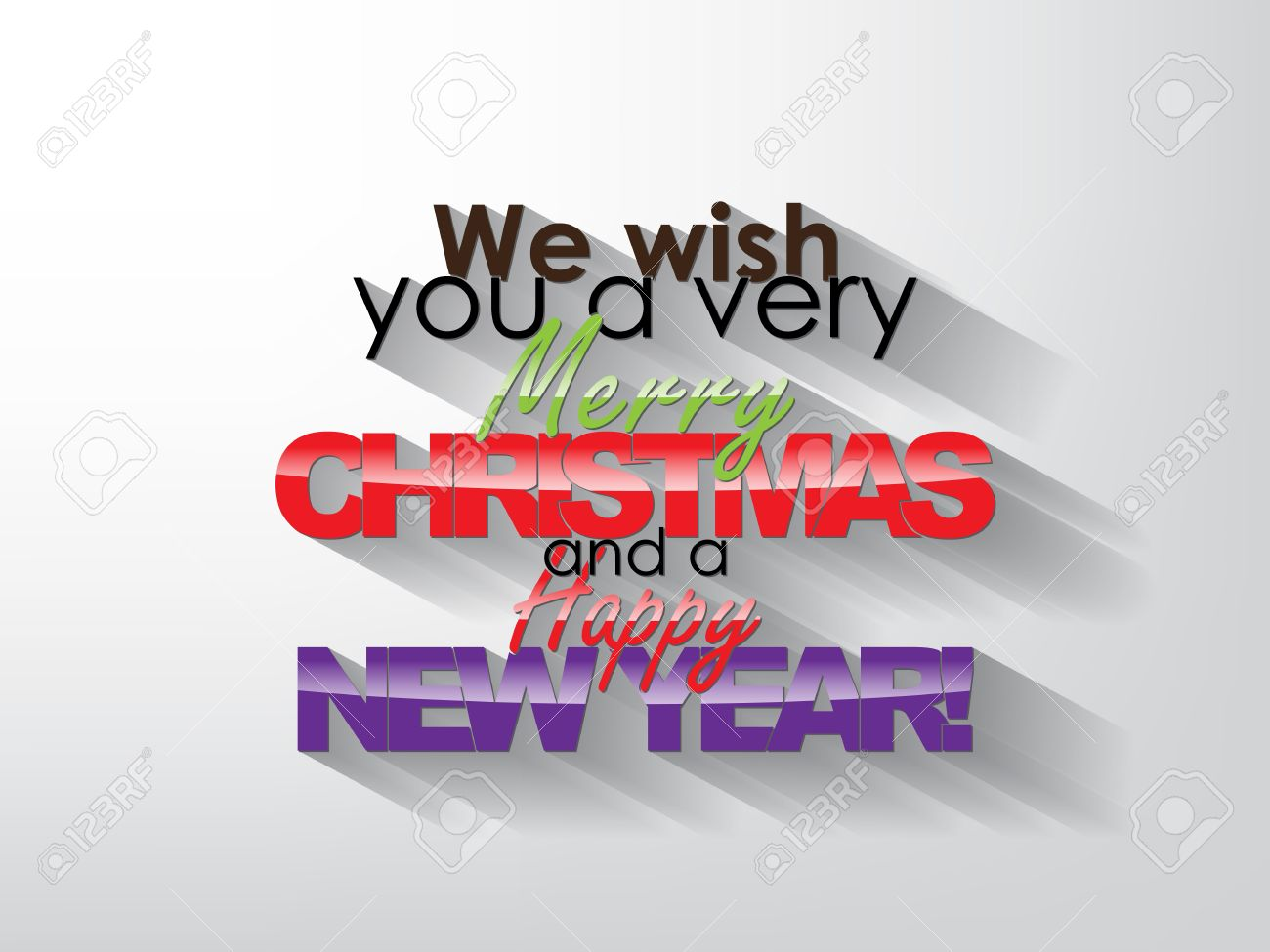vector we wish you a very merry christmas and a happy new year typography background christmas poster