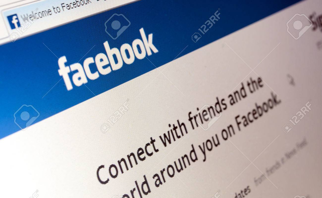 Bucharest, Romania - Jan 23, 2014: Photo of Facebook web page. Facebook is an online social networking service. Its name comes from a colloquialism for the directory given to students at some American universities. Stock Photo - 25454557