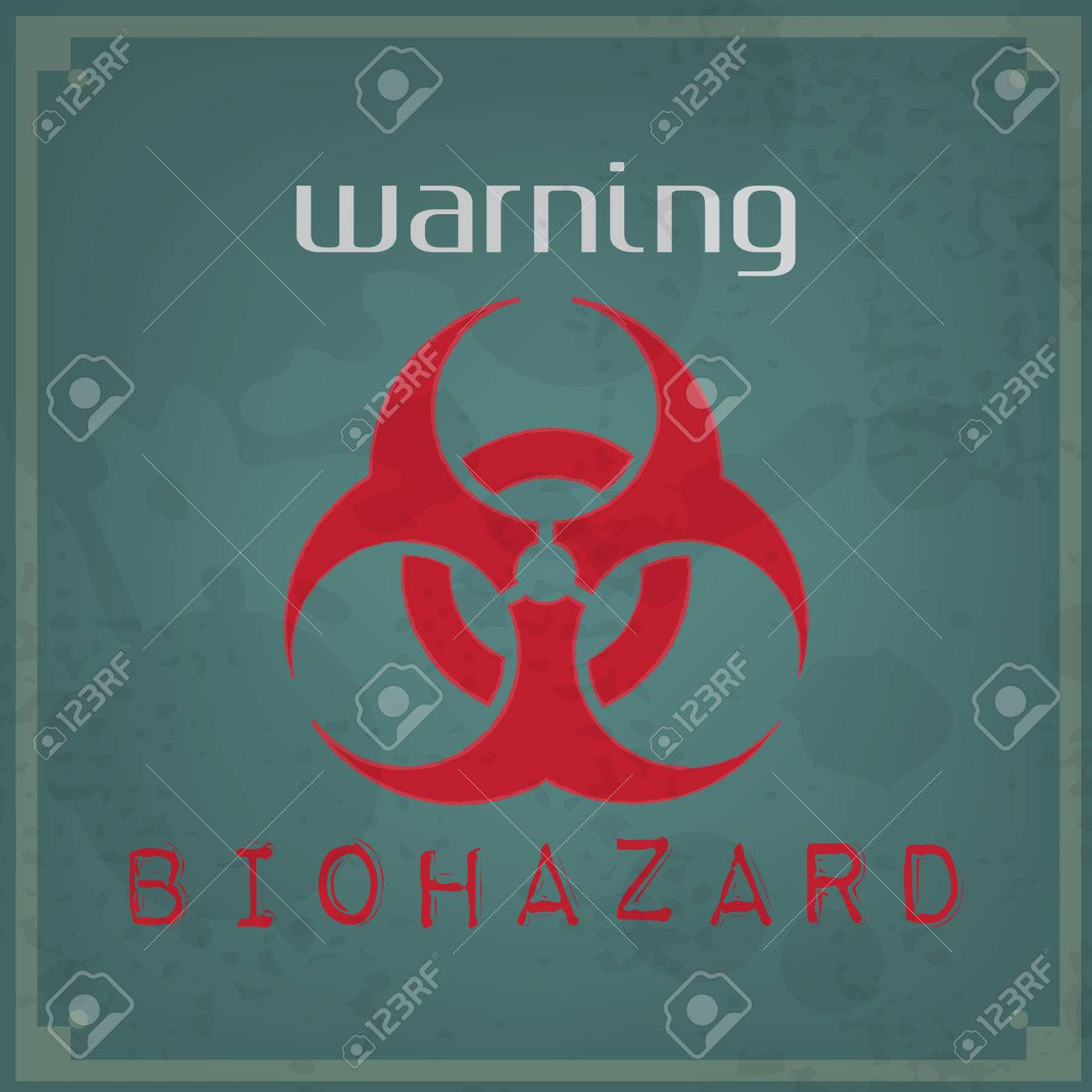 Abstract vintage background. Brushed illustration with biohazard sign Stock Vector - 26569953