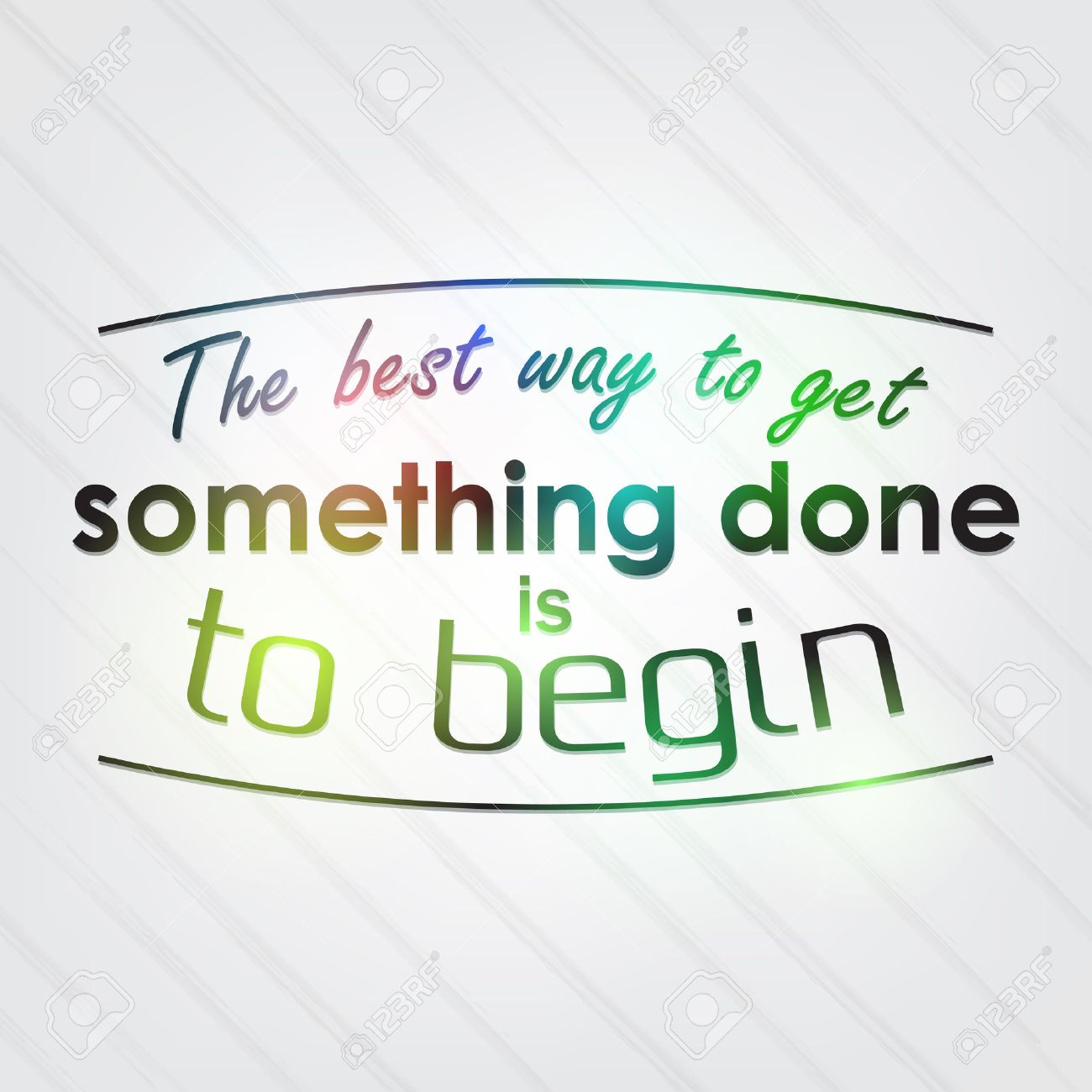 to begin something