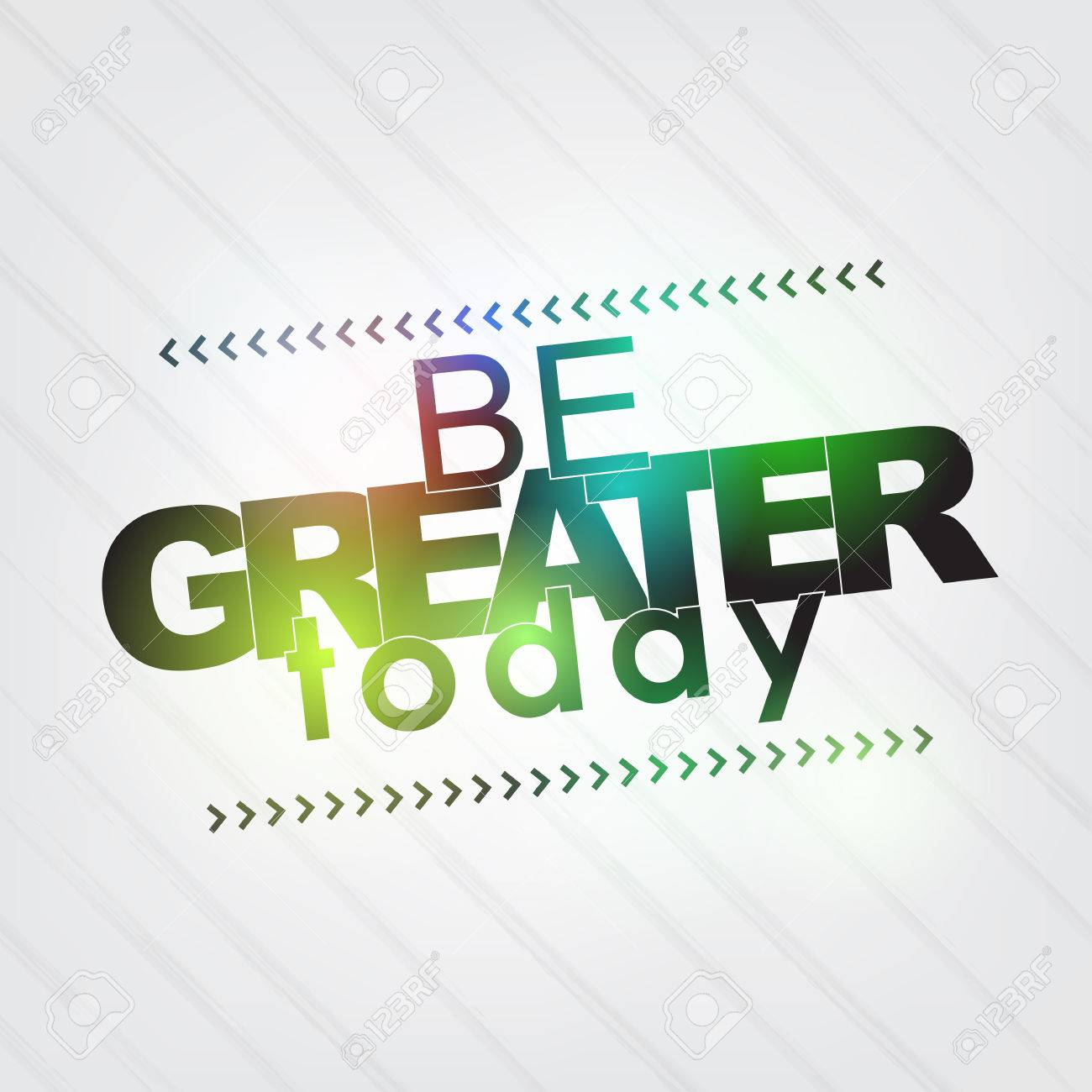 Be greater today. Motivational Background Stock Vector - 27240422