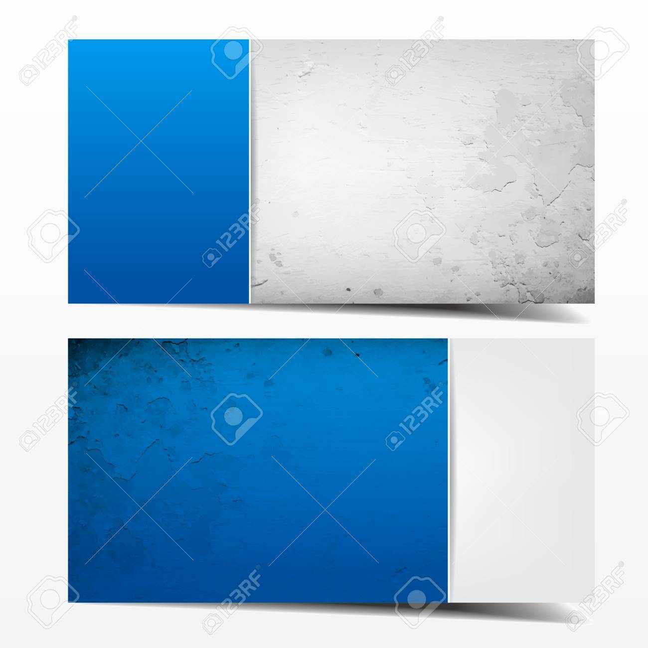 Blue And Grey Grunge Template. Great Use For Business Cards ...