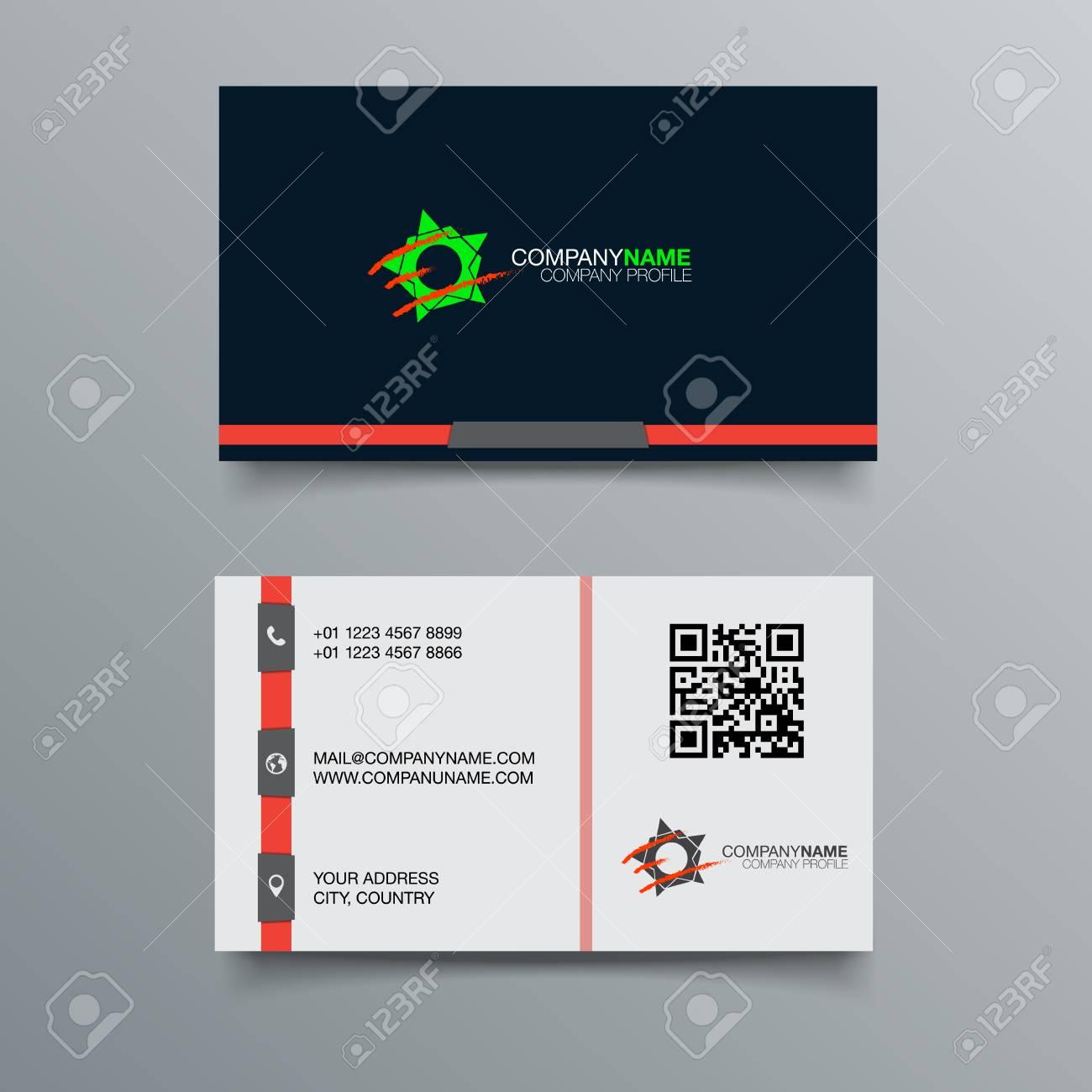 Business Card Background Design Template Stock Vector Illustration