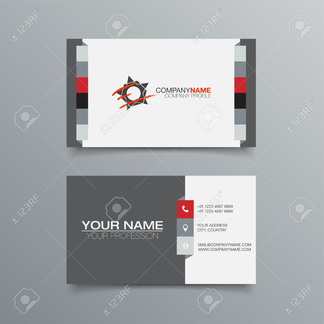Business Card Background Design Template. Stock Vector Illustration - 43934307