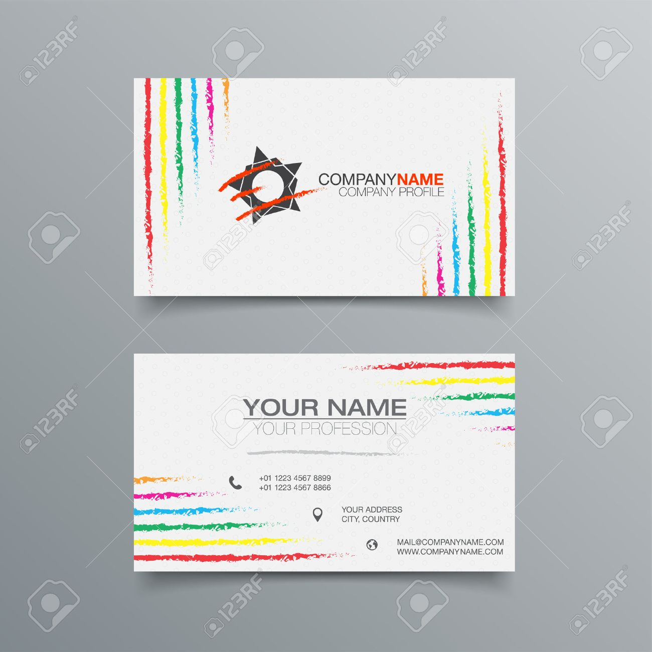 Business Card Background Design Template. Stock Vector Illustration ...