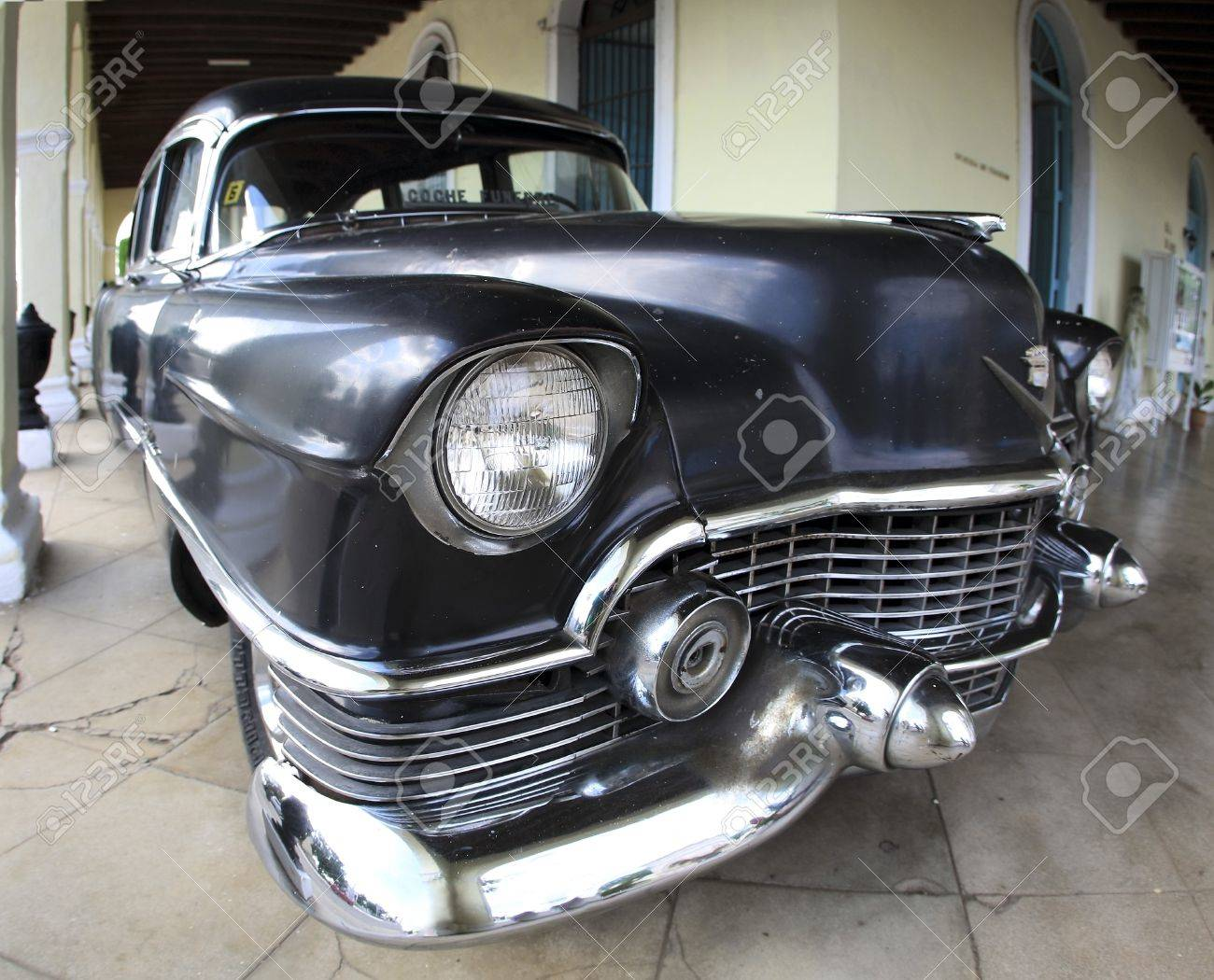 HAVANA - JAN 25: Front View Old Car 1950 Year Cadillac Deville ...