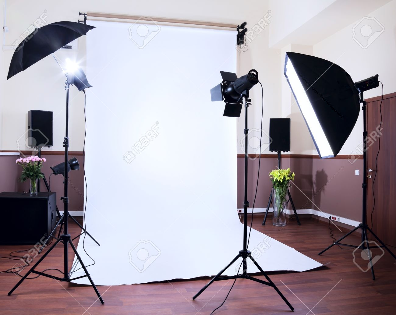 Photo Studio In A Private School With Lighting Equipment Stock ... for Photography Lighting & 31+ Amazing Photography Lighting Equipment For