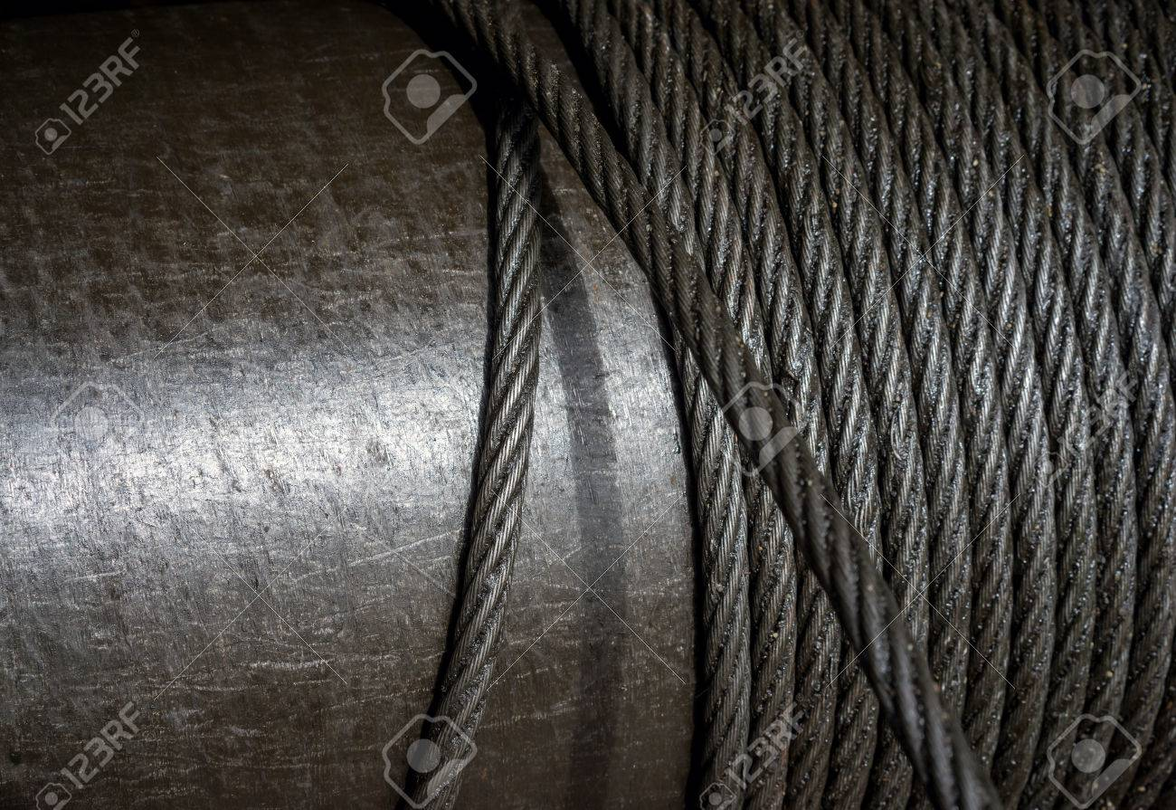 Steel Wire Rope Structure, Heavy Wire Cable In Heavy Industrial ...