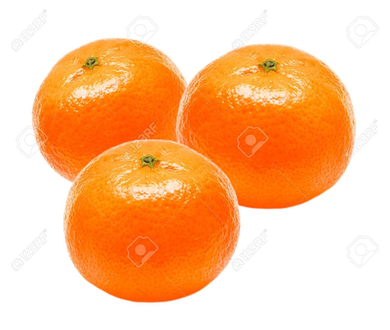 Mandarin isolated on white background Stock Photo - 12265187