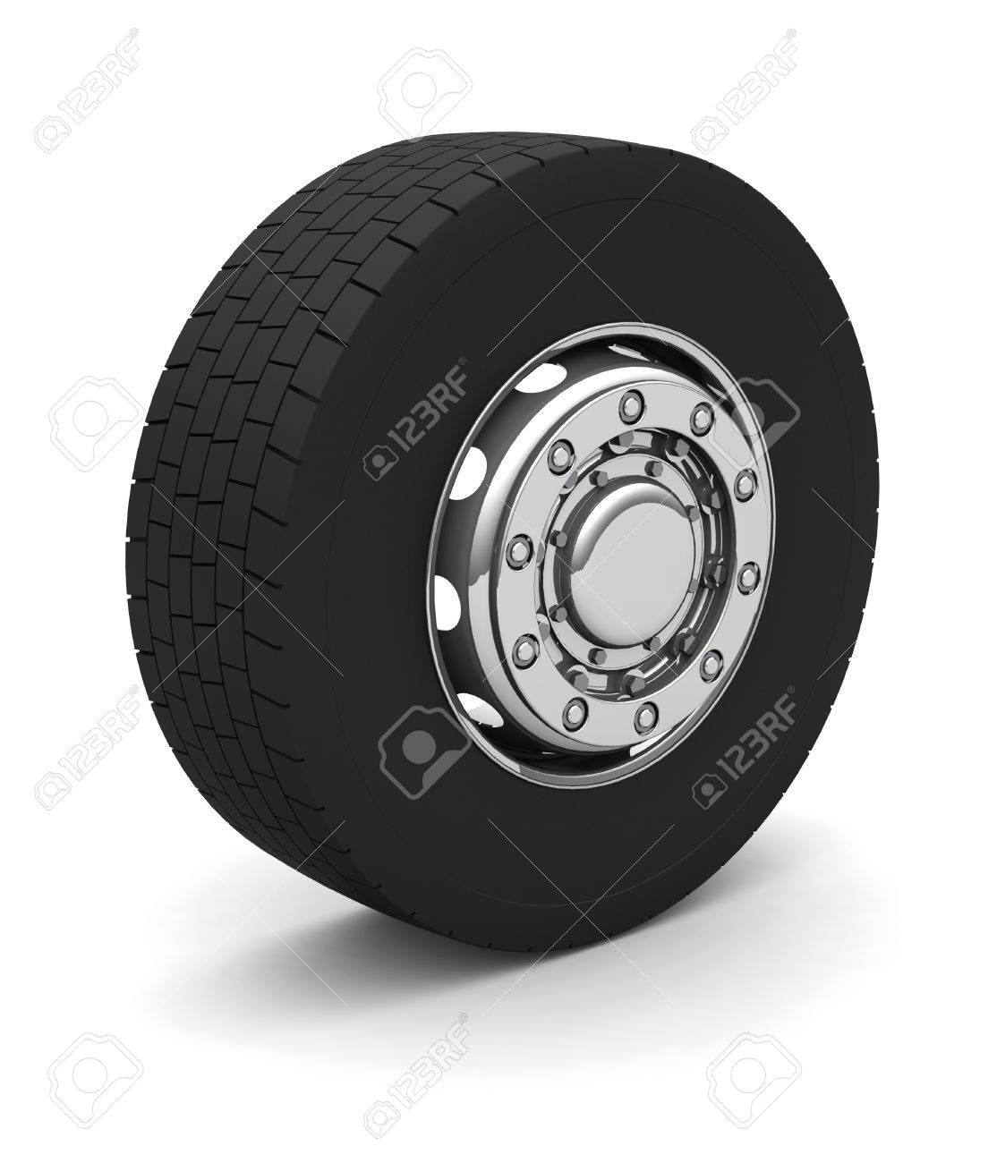 New Truck wheel on the blue background Stock Photo - 4549891