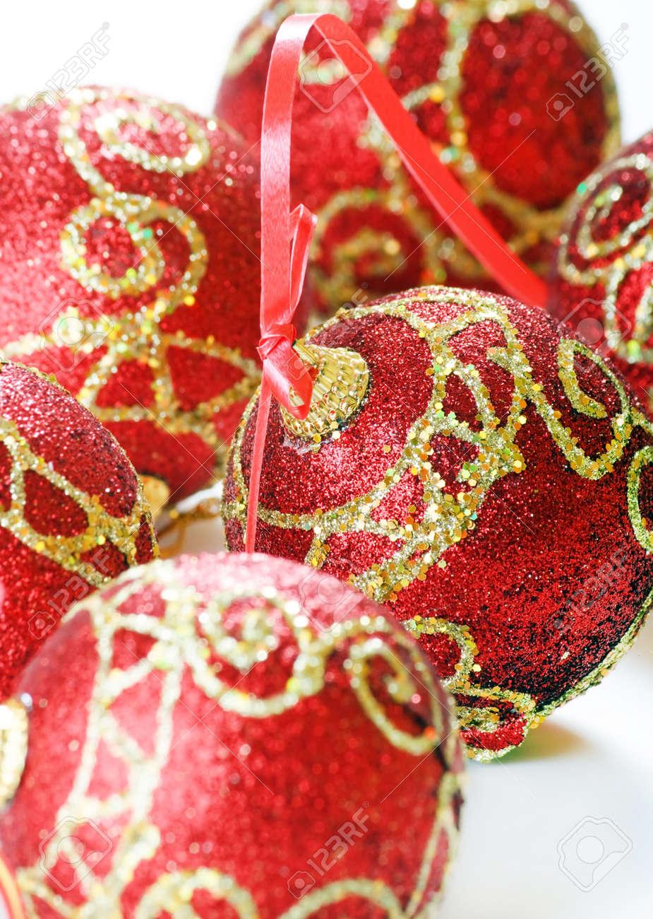Red christmas balls Stock Photo - 5840670