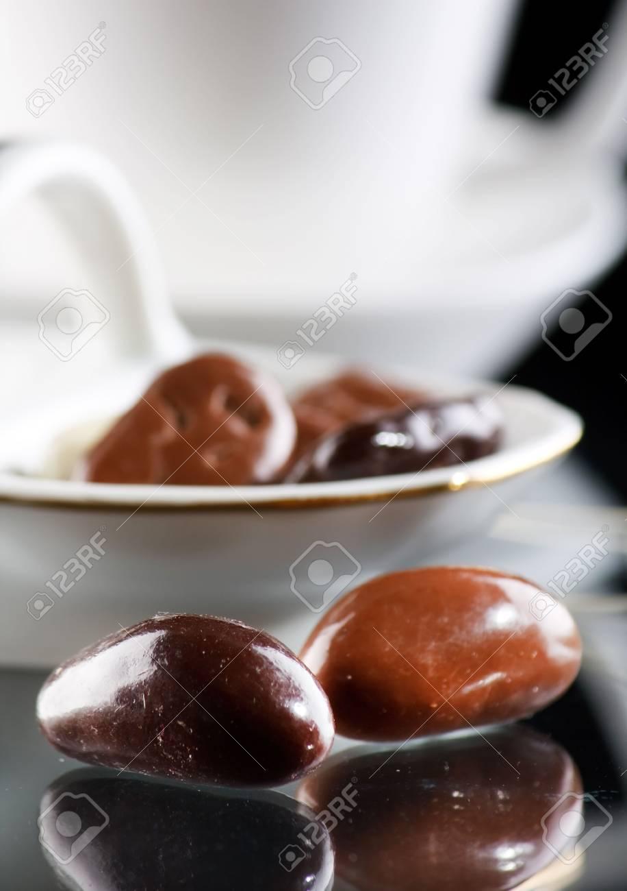 coffee and chocolate drops Stock Photo - 6330841