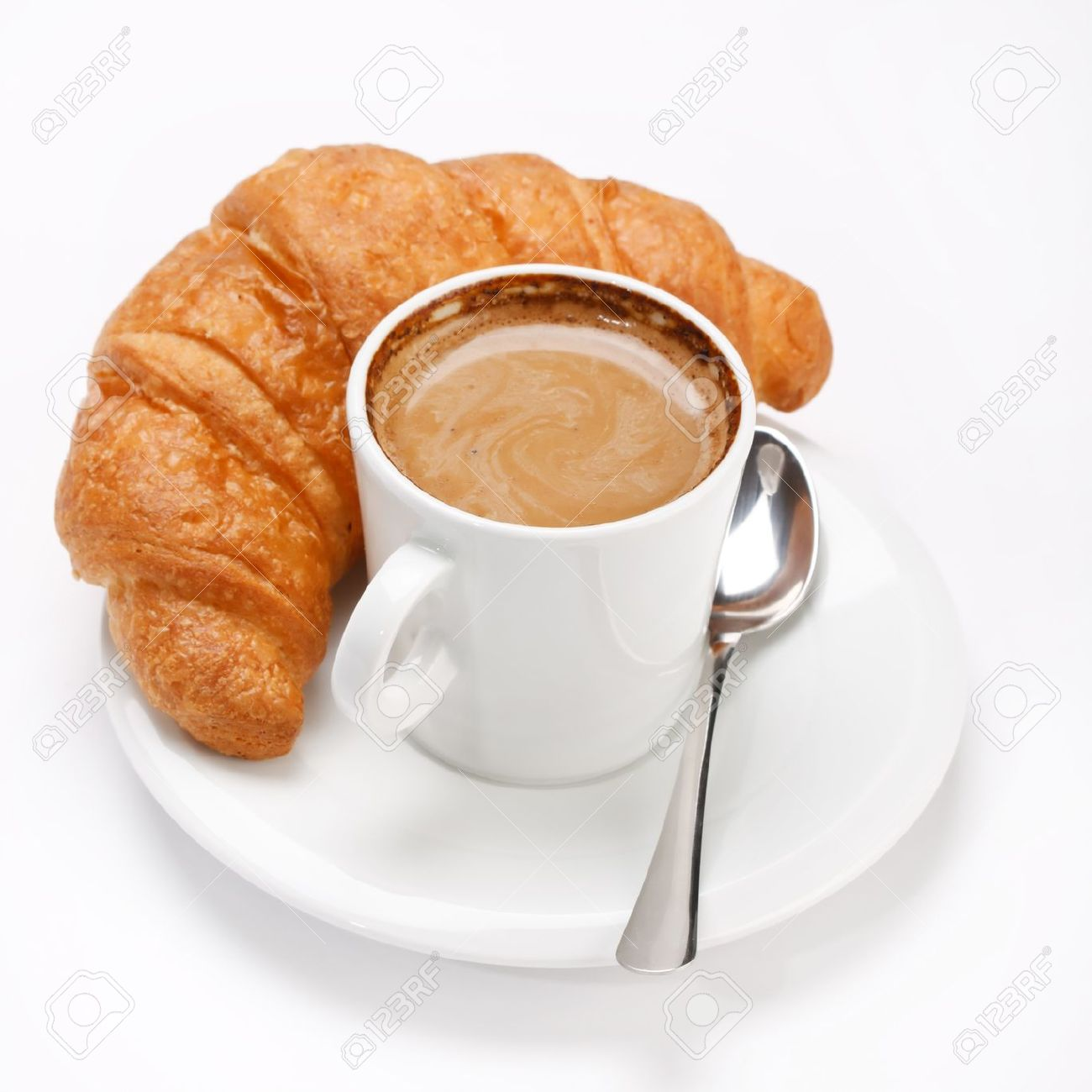 coffee and croissant Stock Photo - 7027390