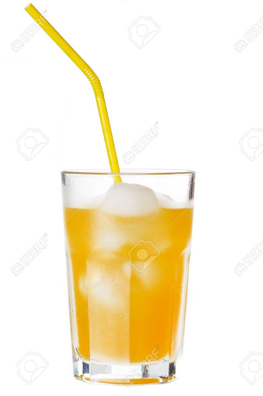 glass of orange juice with ice Stock Photo - 8757607