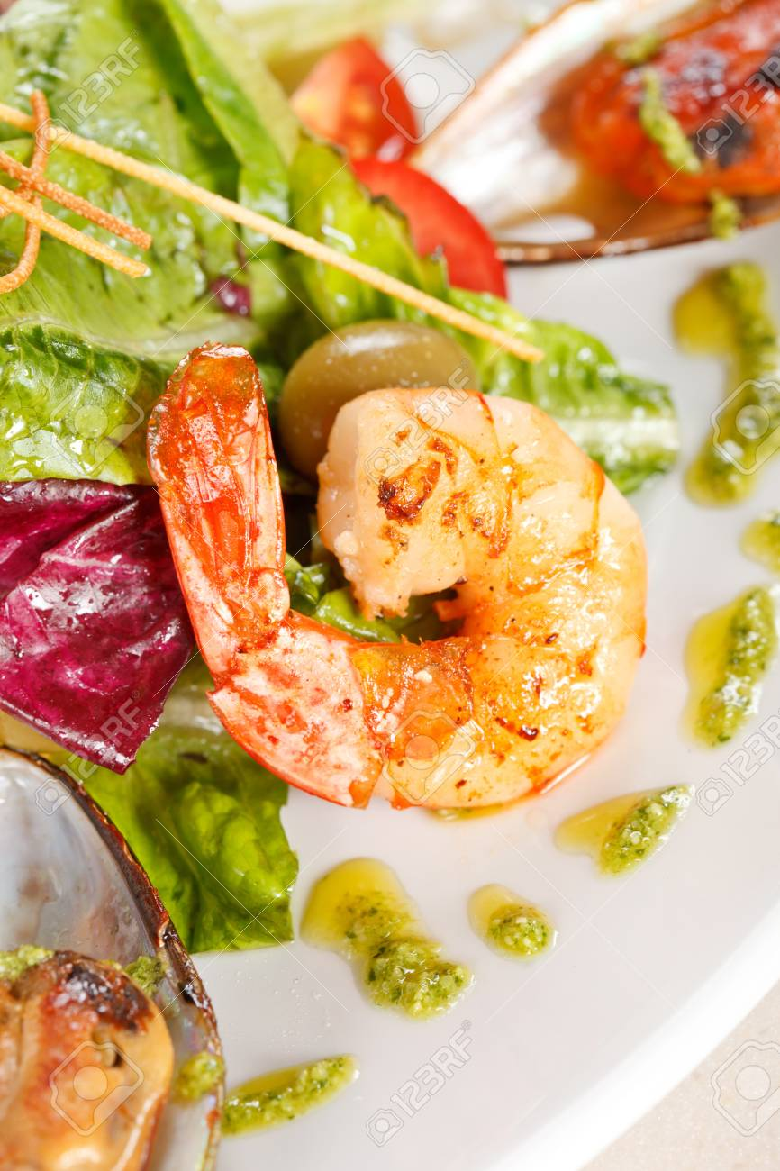 Seafood Salad Stock Photo - 13630864