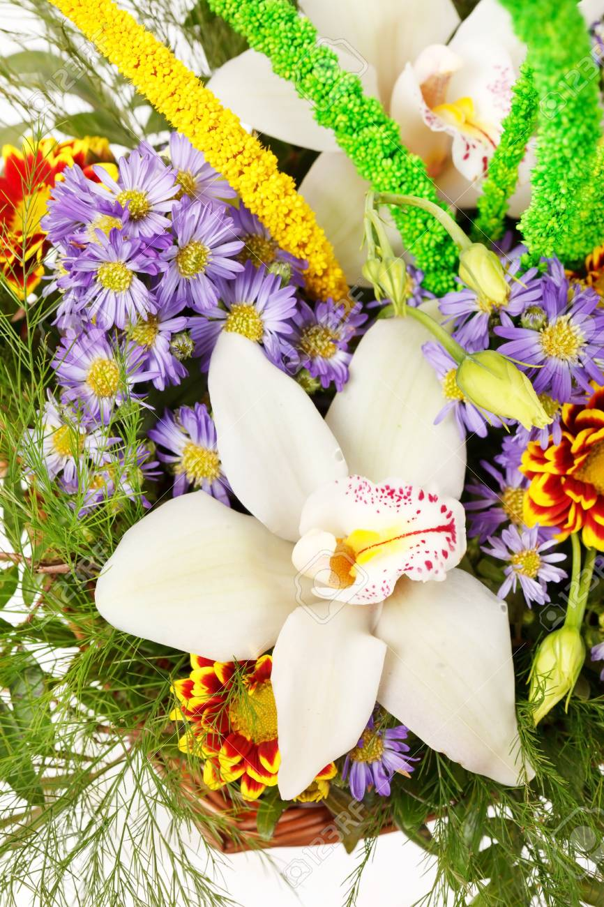 Beautiful flowers in the basket stock photo picture and royalty beautiful flowers in the basket stock photo 18035805 izmirmasajfo