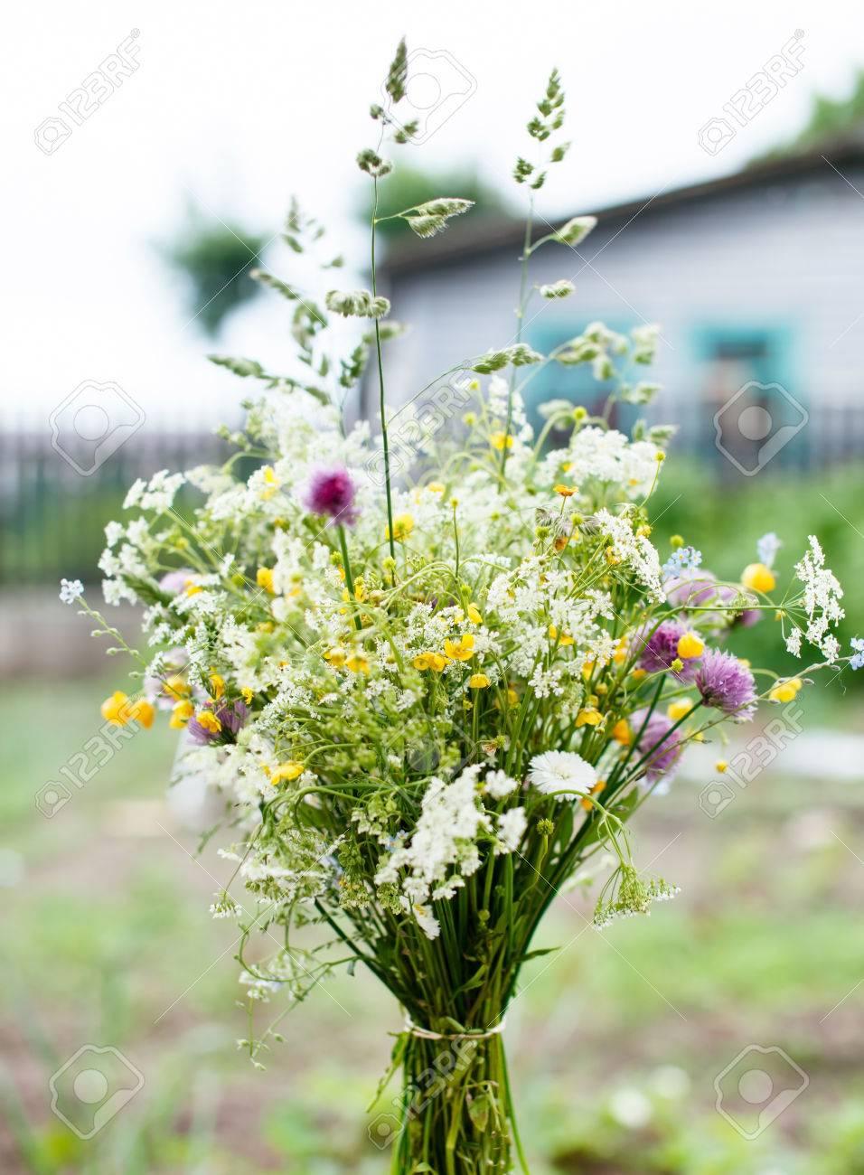 Bien connu Bouquet De Fleurs Sauvages Lumineuses Banque D'Images Et Photos  VK97