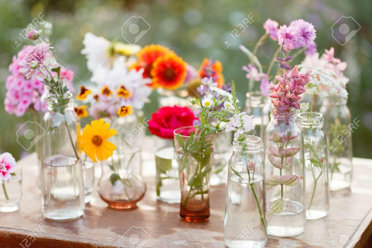 nice flowers in the bottles - 51261850