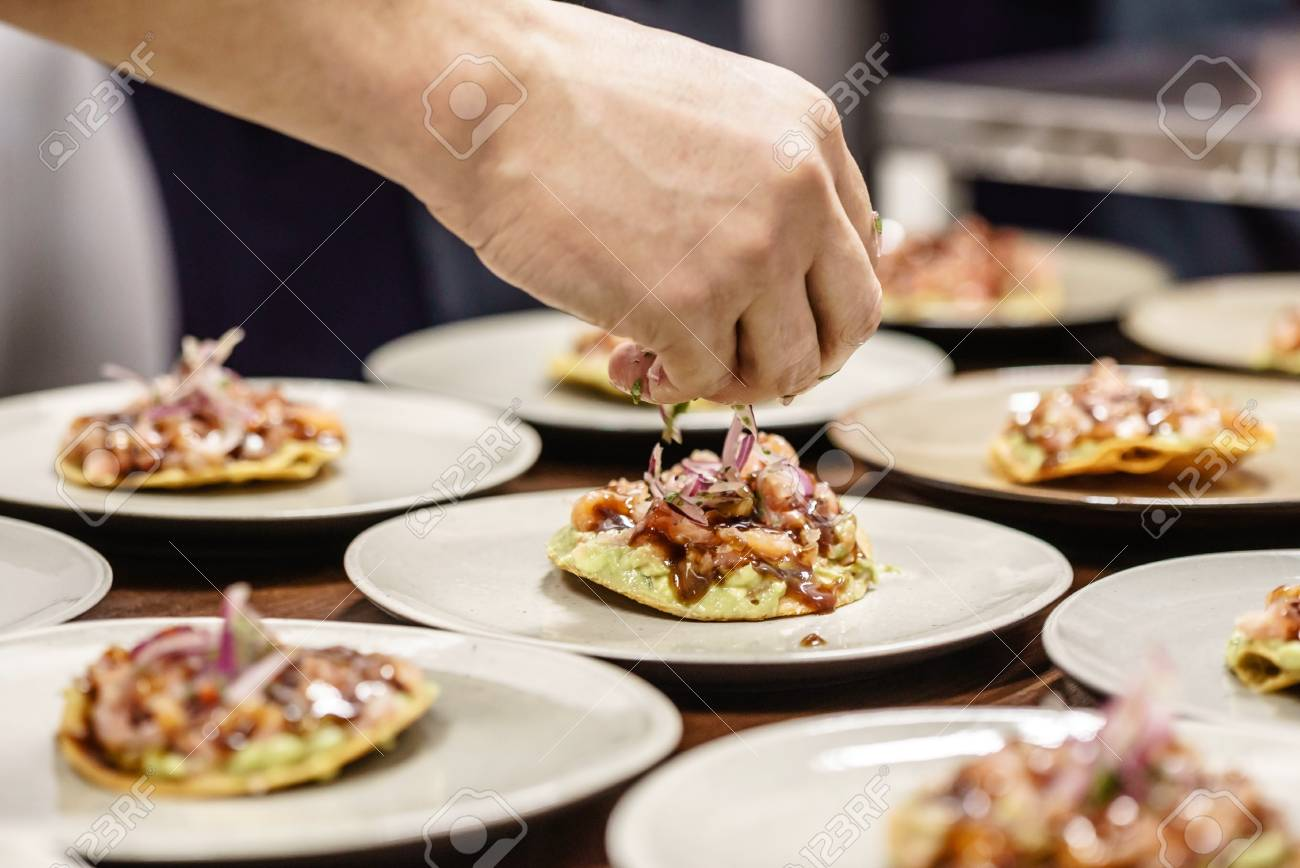 catering food in the restaurant - 96363512