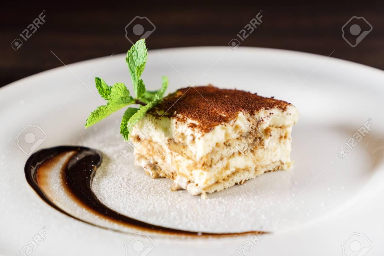 tiramisu cake with coffee - 111917104