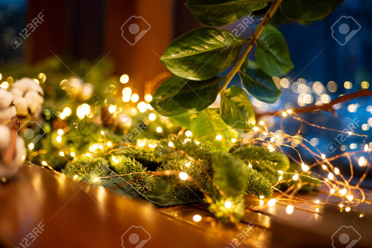 Christmas decoration with lights - 113907135