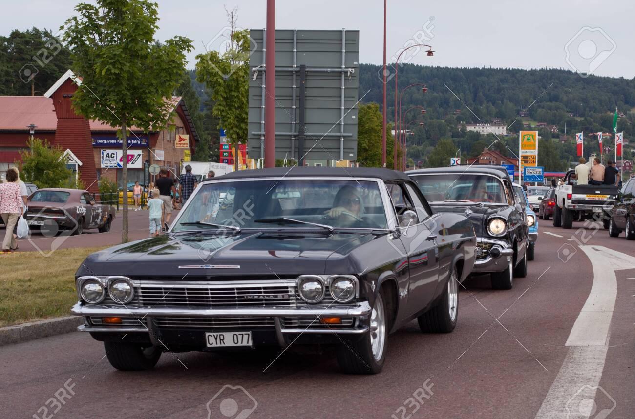 Rattvik Sweden July 27 2013 Chevrolet Impala 88 Old Car Classic Car Week Rã Ttvik Sweden Lizenzfreie Fotos Bilder Und Stock Fotografie Image 157060579