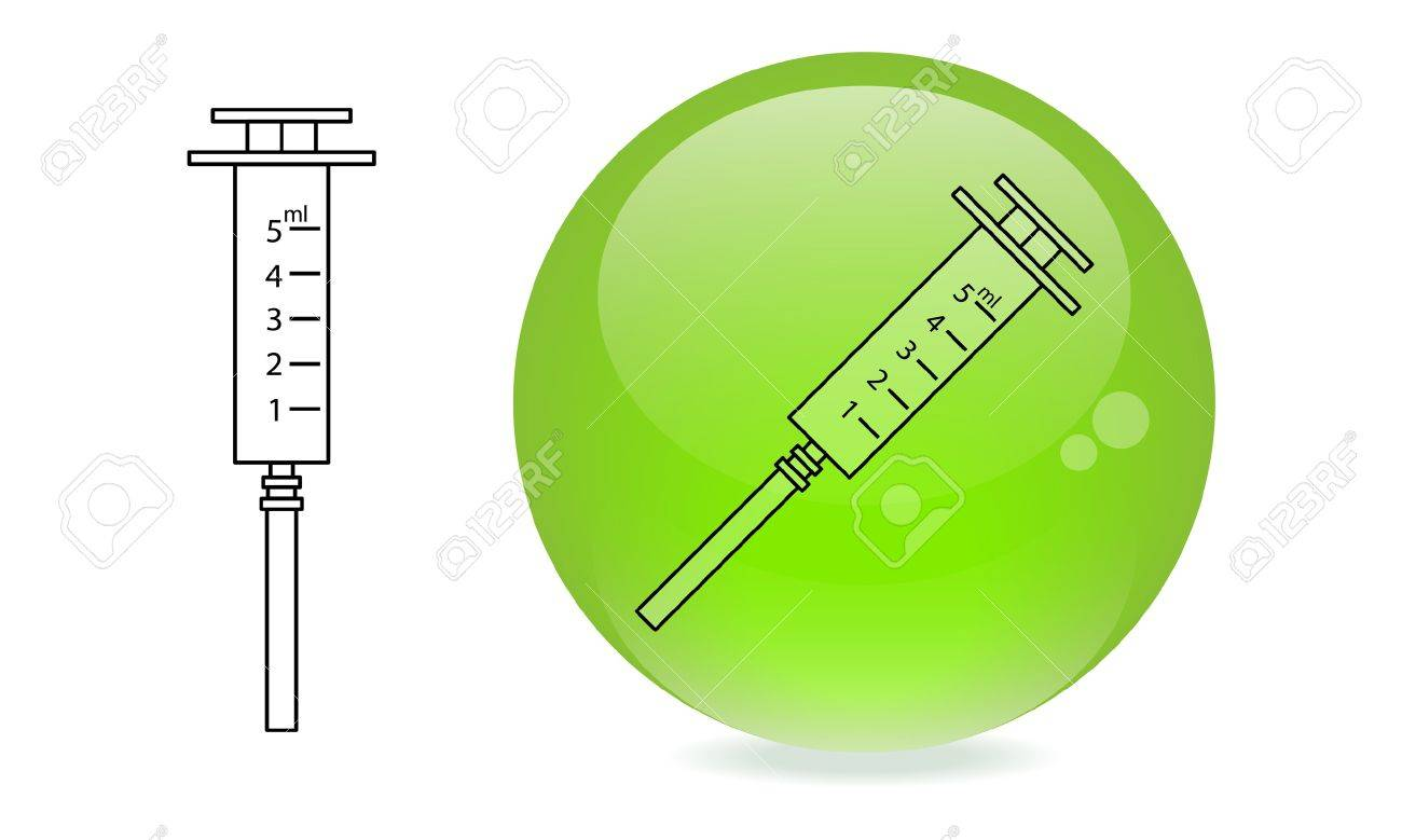 New graphical symbol  Medical syringe Stock Vector - 19336182