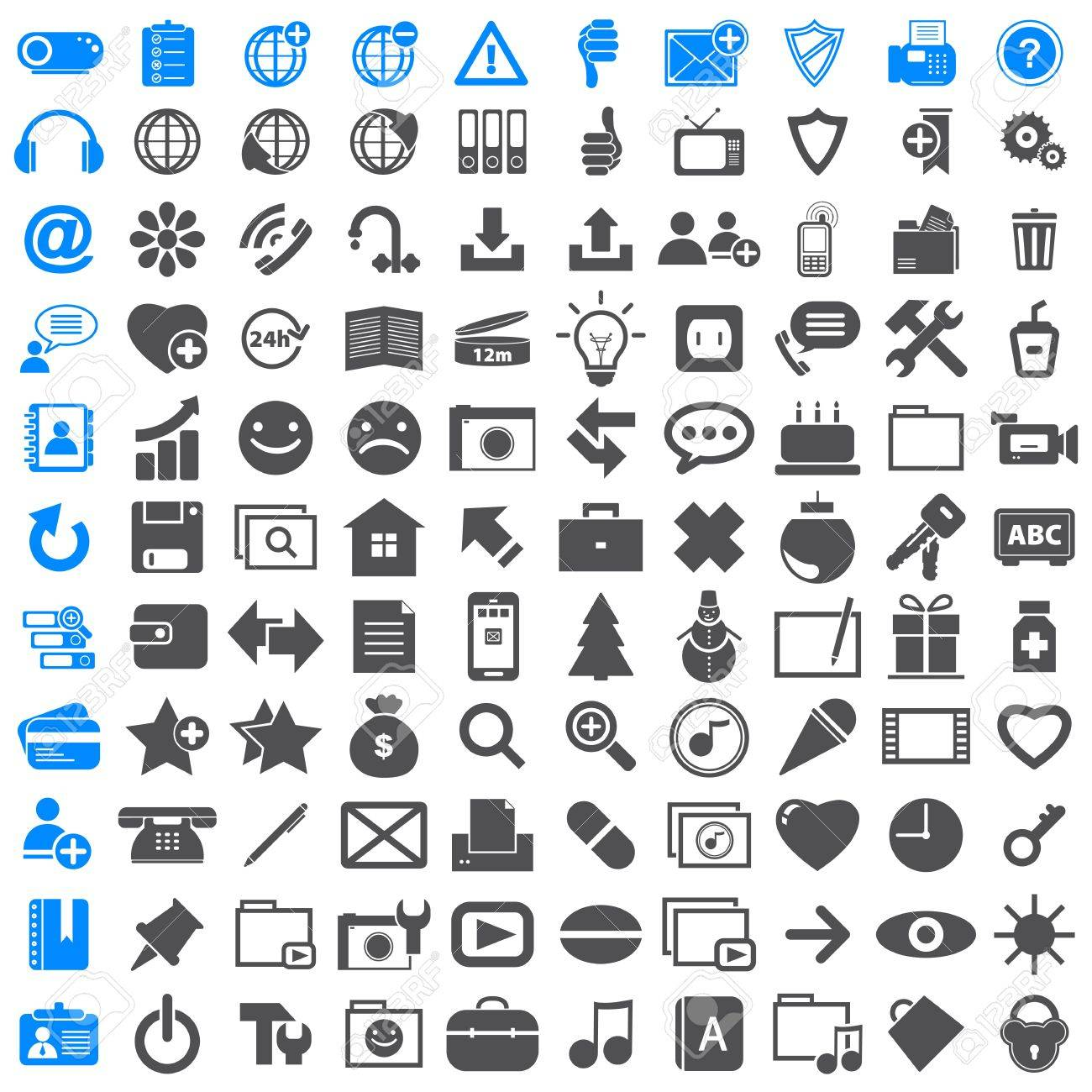 Business Icons Collection Office Royalty Free Cliparts, Vectors ...