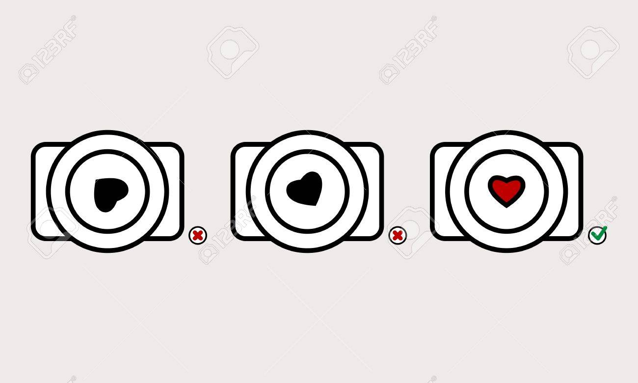camera and heart Stock Vector - 19438848